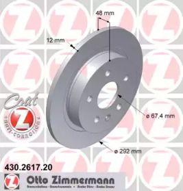 Тормозной диск на Шевроле Малибу 'OTTO ZIMMERMANN 430.2617.20'.