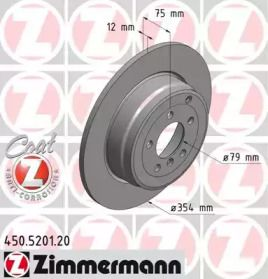 Тормозной диск 'OTTO ZIMMERMANN 450.5201.20'.