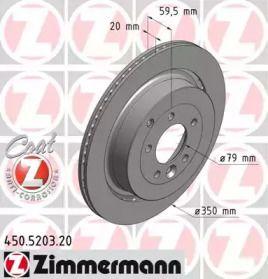Перфорированный тормозной диск 'OTTO ZIMMERMANN 450.5203.20'.