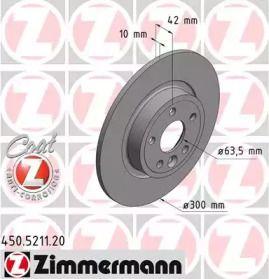Тормозной диск на DISCOVERY SPORT 'OTTO ZIMMERMANN 450.5211.20'.