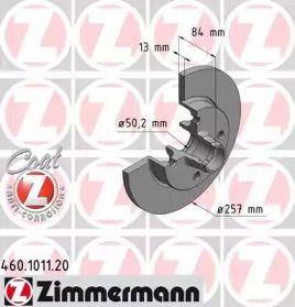 Тормозной диск на Порше 924 'OTTO ZIMMERMANN 460.1011.20'.