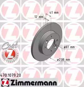 Гальмівний диск OTTO ZIMMERMANN 470.1079.20 малюнок 0