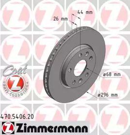 Вентилируемый тормозной диск на RENAULT TALISMAN 'OTTO ZIMMERMANN 470.5406.20'.