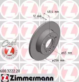 Тормозной диск 'OTTO ZIMMERMANN 600.3222.20'.