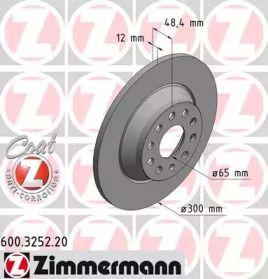 Тормозной диск 'OTTO ZIMMERMANN 600.3252.20'.