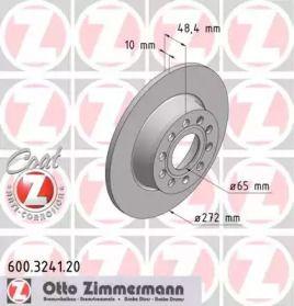 Тормозной диск на AUDI Q2 'OTTO ZIMMERMANN 600.3241.20'.