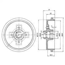 Тормозной барабан на Шкода Фаворит 'DELPHI BF310'.