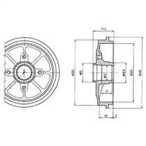 Тормозной барабан на Пежо 1007 'DELPHI BF484'.