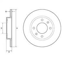 Тормозной диск 'DELPHI BG2572'.
