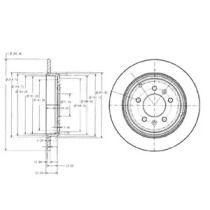 Тормозной диск на PEUGEOT 605 'DELPHI BG2573'.