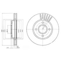 Вентилируемый тормозной диск на FORD COUGAR DELPHI BG2699.