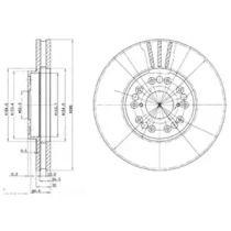 Вентилируемый тормозной диск на Лексус СЦ 'DELPHI BG2829'.