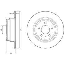 Тормозной диск на Вольво С70 'DELPHI BG2842C'.