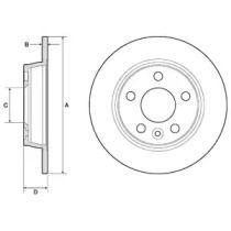 Тормозной диск на SEAT ALHAMBRA 'DELPHI BG3026'.