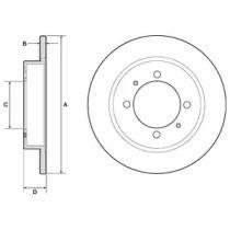 Тормозной диск на Вольво С40 'DELPHI BG3203'.