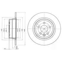 Тормозной диск на ROVER 75 'DELPHI BG3550'.