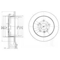Тормозной диск на TOYOTA AVENSIS VERSO 'DELPHI BG3779'.