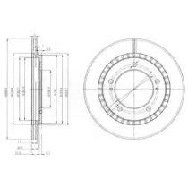 Вентилируемый тормозной диск на Сузуки Гранд Витара 'DELPHI BG3820'.