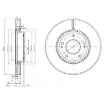 Вентилируемый тормозной диск на Киа Каренс 'DELPHI BG3861'.