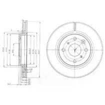 Вентилируемый тормозной диск на Ситроен С1 DELPHI BG3976.