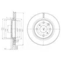 Вентилируемый тормозной диск на Пежо 108 'DELPHI BG3976C'.