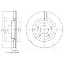 Вентилируемый тормозной диск на Ниссан Пульсар 'DELPHI BG4109C'.
