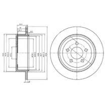 Тормозной диск на DODGE NITRO 'DELPHI BG4159'.