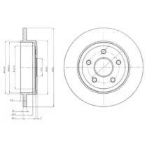 Тормозной диск на Джип Коммандер 'DELPHI BG4160'.