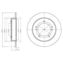 Тормозной диск на SUZUKI JIMNY 'DELPHI BG4289'.