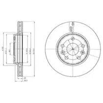 Вентилируемый тормозной диск на MERCEDES-BENZ CITAN 'DELPHI BG4317'.