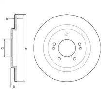 Тормозной диск на HYUNDAI I40 'DELPHI BG4563'.
