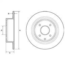 Тормозной диск на NISSAN CUBE 'DELPHI BG4666C'.