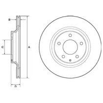 Вентильований гальмівний диск на MAZDA RX-8 DELPHI BG4693C.
