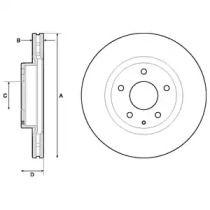 Вентилируемый тормозной диск на MAZDA CX-3 'DELPHI BG4713C'.