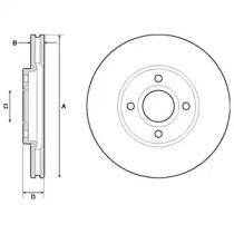 Вентилируемый тормозной диск на FORD ECOSPORT 'DELPHI BG4715C'.
