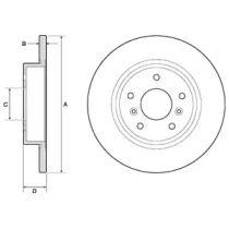 Тормозной диск на Рено Каджар 'DELPHI BG4807C'.