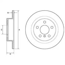 Тормозной диск на БМВ Ай3 'DELPHI BG4812C'.