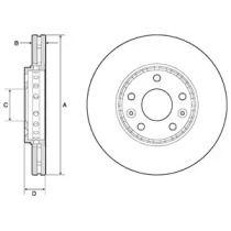 Вентилируемый тормозной диск на Фиат Таленто 'DELPHI BG4815C'.