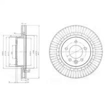 Вентилируемый тормозной диск на RANGE ROVER SPORT 'DELPHI BG9006C'.