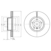 Вентилируемый тормозной диск на BMW X4 DELPHI BG9108.