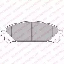 Гальмівні колодки на LEXUS NX 'DELPHI LP2201'.