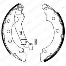 Барабанні гальмівні колодки DELPHI LS1842.