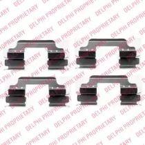 Скоби гальмівних колодок на Mini Countryman  DELPHI LX0405.