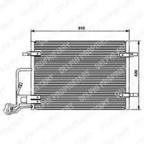 Радіатор кондиціонера 'DELPHI TSP0225453'.