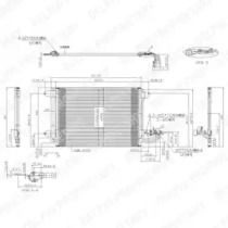 Радиатор кондиционера на Сеат Леон DELPHI TSP0225482.