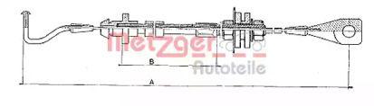 Тросик газа на VOLKSWAGEN PASSAT METZGER 10.090.