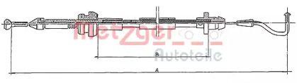 Тросик газа на Сеат Толедо 'METZGER 11.087'.