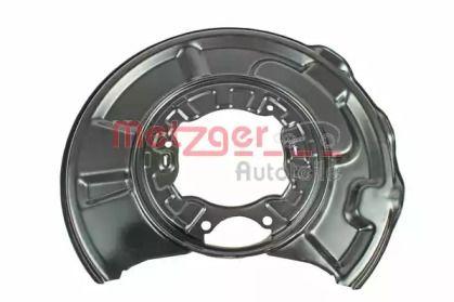 Захисний кожух гальмівного диска на Mercedes-Benz E-Class  METZGER 6115009.