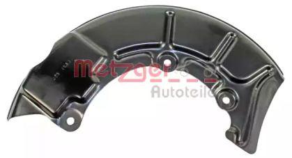 Защитный кожух тормозного диска 'METZGER 6115021'.