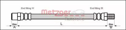 Гальмівний шланг на Мерседес Г Клас  METZGER 4110571.